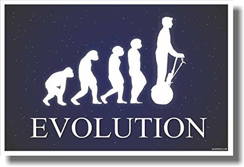 Segway Evolution - Dark Blue - New Humor Poster