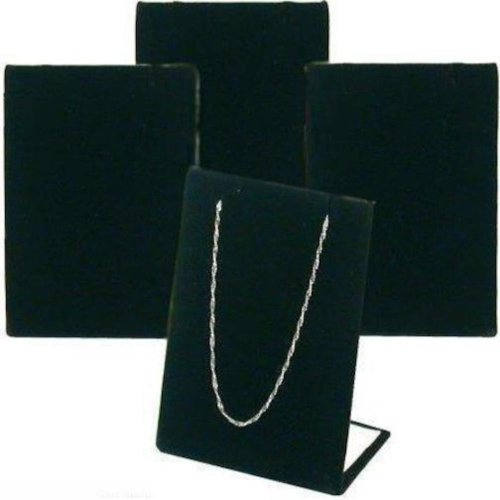 FindingKing 4 Black Velvet Pendant Chain Necklace Display Stand - Pendant Necklace Display Stand