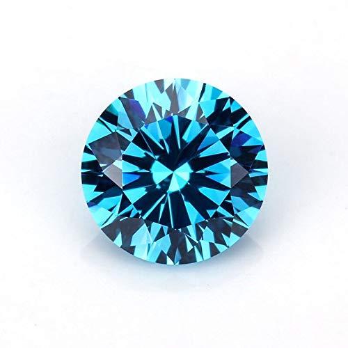Gamerick Beautiful Blue Color 1.11 Carat Round Brilliant Cut 7 MM VVS Clarity Moissanite