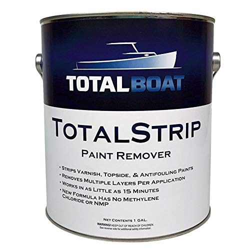 TotalBoat TotalStrip Fast-Acting Heavy Duty Gel Paint and Varnish Remover   No Methylene Chloride or NMP (1 Gallon)