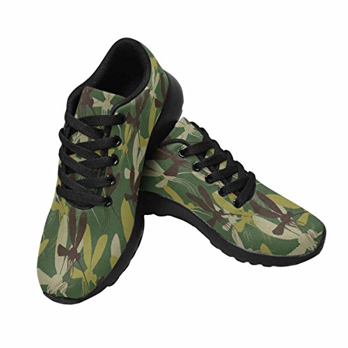 Interessante Womens Jogging Running Sneaker Leggero Go Easy Walking Sport Sport Scarpe Da Corsa Sfondo Mimetico, Zanzare Multi 1