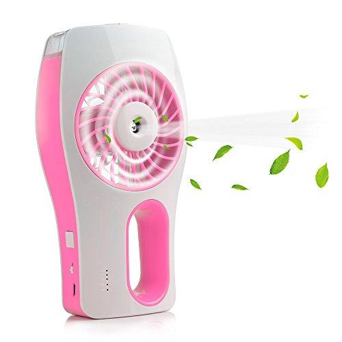 iEGrow HQM-MY001 Handheld USB Mini Misting Fan, Pink