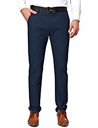 Mens Casual Tapered Flat-Front Pants N268