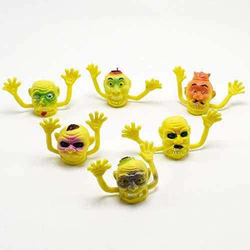 Allytech 6PCS Monster Finger Toys - Lightweight Durable Portable Novel Environmental PVC Finger Puppets Toys Good Gift Present for Kids Men Boys (Yellow)