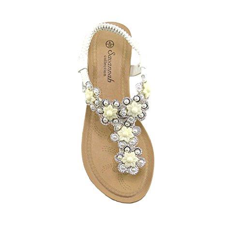 Donna Footwear Scarpe Medio Sandali Comfort Bianco Vacanza Tacco Zeppa la Bassa Estate Kick con U4q5S