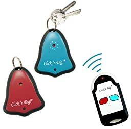 Click \'n Dig Model D2 Key Finder. 2 Receivers. Wireless RF Remote Item, Wallet Locator.
