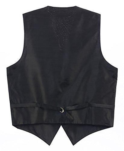2 Piece Gioberti Men's Solid Vest & Necktie Formal Set, Charcoal, 4XLarge