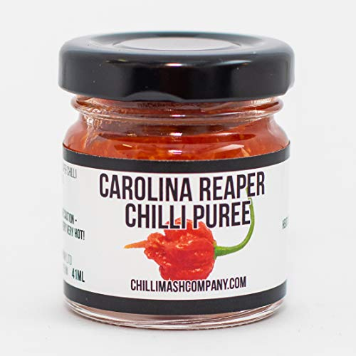 Carolina Reaper Chili Puree/Pepper Mash - UK Made - Natural Ingredients Only - Extremely Spicy Cooking Paste - World's Hottest Chili Puree