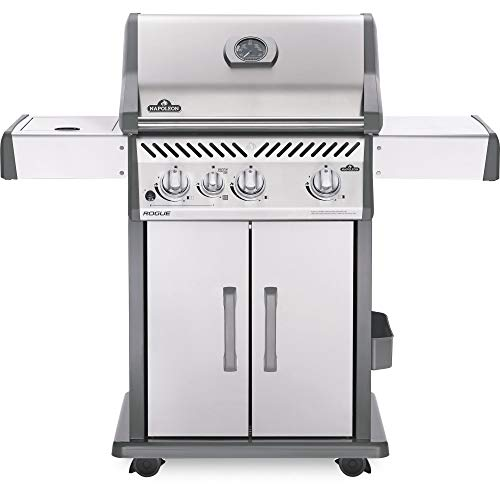 Napoleon Grills Rogue 425 Propane Gas Grill, Stainless Steel (Best Compact Gas Grill)