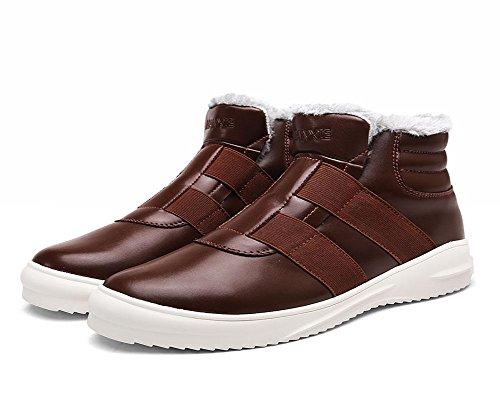 au court Bottes Chaussures de cachemire brown Tube Exercice Garde Loisirs Hommes Neige Coton Hiver chaud Plus Martin Wqg7nZA