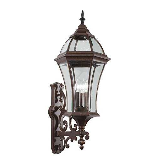 New Street Outdoor Sconce - Kichler 49185TZ Townhouse Outdoor Wall 3-Light, Tannery Bronze