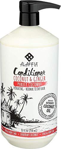 Alaffia Coconut Conditioner, Purely Coconut, 32 Oz