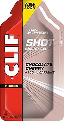 CLIFBAR Food Caffeine Choco Cherry Turbo Gel (Box of 24), 100mg from J&B Importers, Inc.