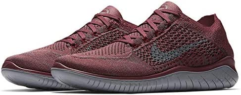 Nike Free RN Flyknit 2018 942838-600 Vintage Wine Grey Men s Running Shoes