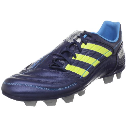 adidas Women's Predator Absolado_X TRX FG Soccer Shoe,New Navy/Acid Buzz/Metallic Silver,5 M US