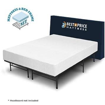 best price mattress 10 inch memory foam mattress and bed frame set queen - Memory Foam Bed Frame