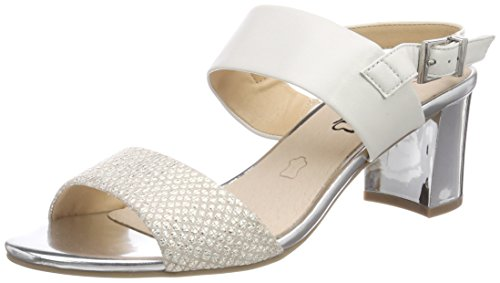 Femme Blanc 28302 Caprice Sandales 114 Bride Multi Arrière offwhite xS4IX4