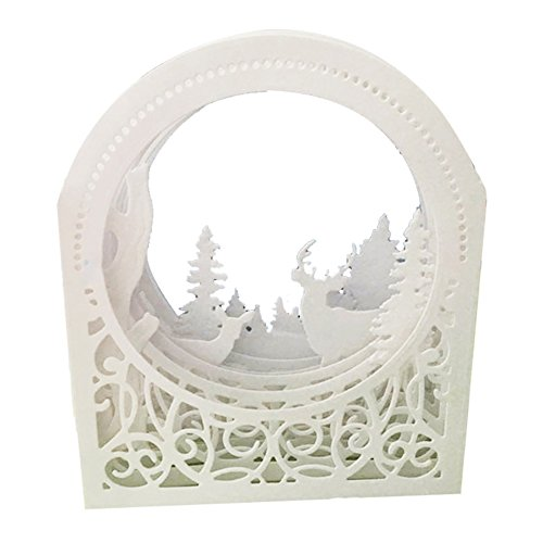 Beautyonline Christmas Deer Cutting Dies Handmade DIY Stencils Template Embossing for Greeting Card Art Craft Gift(H02) by Beautyonline (Image #6)