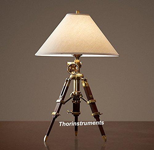 (Royal Marine Tripod Table Gold Lamp)