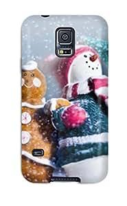 Hot Design Premium IvIjyLK88qvkOj Tpu Case Cover Galaxy S5 Protection Case(creative Christmas Snowman )