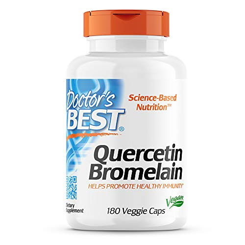 Doctor's Best Quercetin Bromelain, Immunity Support, Heart, Joint & Healthy Respiratory System, Non-GMO, Vegan, Gluten…