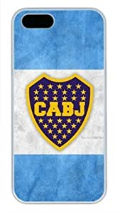 BOCA JUNIORS White PC Phone Case Cover for iPhone 5 5S by vipcustomonline
