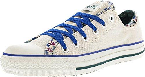 Converse Chuck Taylor Dubbel Övre Oxford Duk Mode Sneaker Vit, Flerfärgad, Mynta
