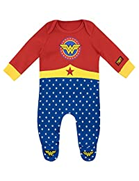 Wonder Woman Baby Girls' Wonder Woman Footies