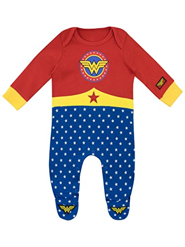 Wonder Woman Baby Girls' DC Comics Footies Size 0-3M -