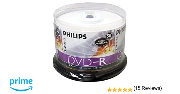 photo relating to Inkjet Printable Dvd referred to as PHILIPS DM4I6B50F/17 4.7 GB INKJET-PRINTABLE DVD-R (50-CT SPINDLE)