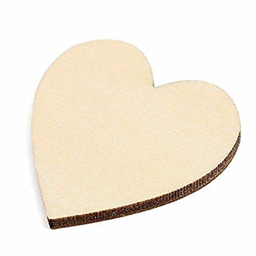 PIXNOR de madera en forma de coraz/ón adornos para manualidades paquete de 80/unidades