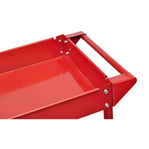 2 Tray Utility Rolling Cart Dolly 220lbs Storage Shelves Workshop Garage Tool by Mybesty (Image #2)