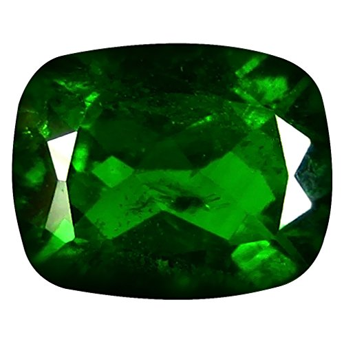 Deluxe Gems 2.38 ct Cushion Cut (9 x 7 mm) Russian Chrome Diopside Natural Loose Gemstone