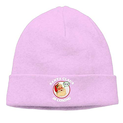 ACD&TV Momen Santa Claus is Coming Funny Merry Christmas Xmas Soft Hip-Hop Black Beanies Skull Hat -