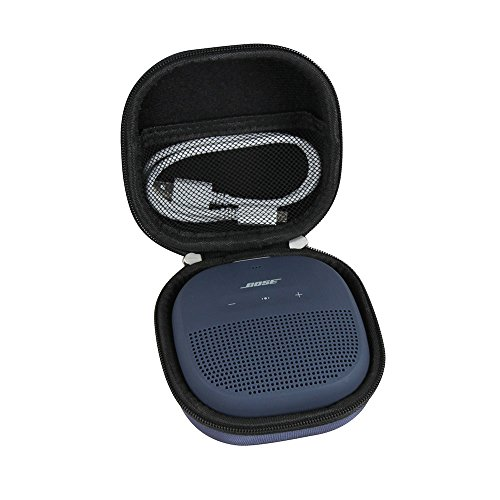 Hermitshell Hard EVA Travel Midnight Blue Case Fits Bose SoundLink Micro Bluetooth Speaker