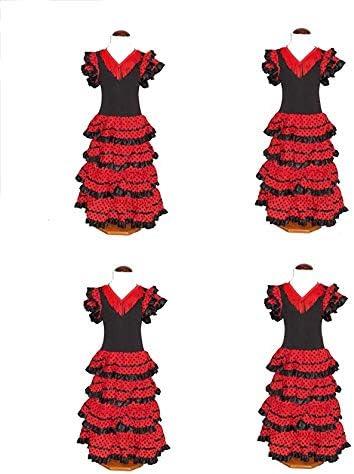 CB Traje de Flamenca, faralaes, sevillana. Mujer, Talla M (48 ...