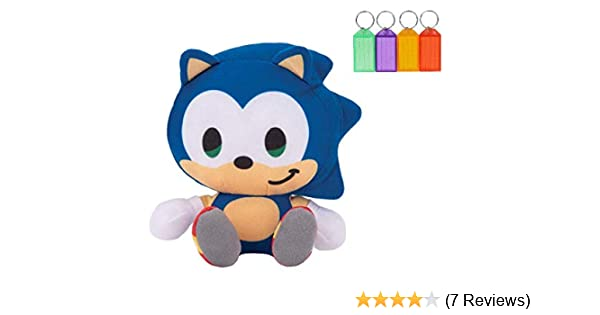 Amazon Com Sonic The Hedgehog Sonic Plush Stuffed Figure Official Licensed Bonus With Name Tag Sonic Toys Games