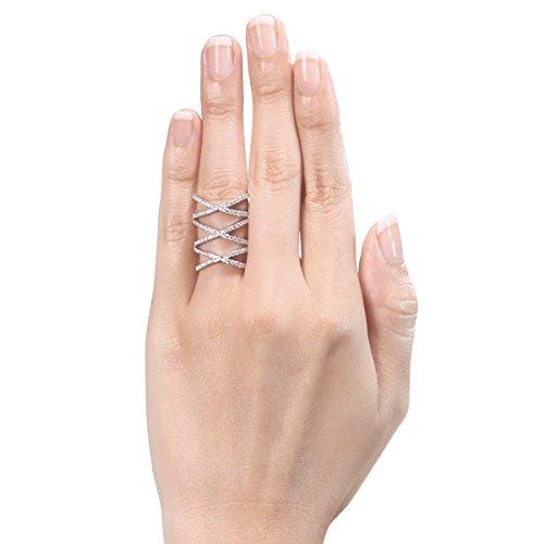 Diamond Studs Forever - Bague en or blanc 14 carats - diamant 1,33 carats - G-H/I1