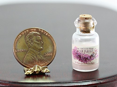 Dollhouse Miniature Glass Bottle of French White Faux Body Lotion