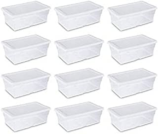 "product image for STERILITE Storage Box 13.5"" X 8.3"" X 4.8"", 6 Qt. Clear - Pack of 12"
