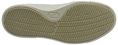 Clarks Ballof Lace, Scarpe Stringate Uomo Bianco (White Leather)