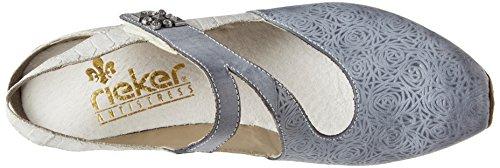 Rieker 49770-14 Jeans / Sh (blå) Dame Hæle 4TaQdfEcT6