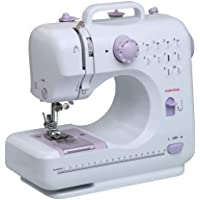 Hojo Electric Sewing Machine Multifunctional Crafting Mending Machine with Pedal LED Light 12 Built-in Stitch Patterns