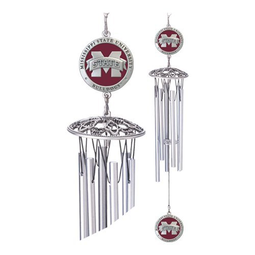 1pc, Pewter Mississippi State University Wind Chimes (Chimes Mississippi Wind)