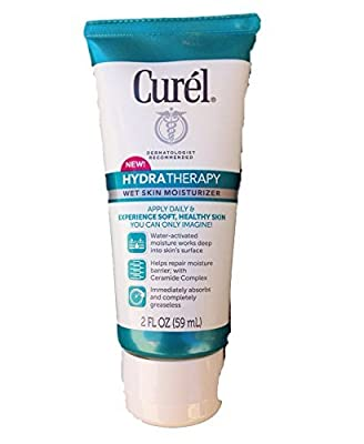 Curel Hydra Therapy Wet Skin Moisturizer! Dermatologist Recommended! Includes One 2 Ounce Tube! For Healthier Looking Skin!