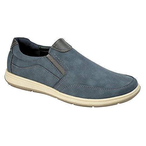 Scimitar Mens Twin Gusset Casual Shoe Navy tQSU3mRBr