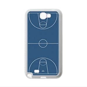 Best Custom Case - Basketball Court Samsung Galaxy Note2 N7100 Plastic and TPU Case, Cell Phone Cover