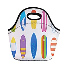 """LARGE-CAPACITY:Lunch Bag Size-11""""""""L x 10""""""""H x 5""""""""W.This size of lunch bag will not be too big or too small, enough for your daily lunch,available in a huge variety of fun patterns, this insulated lunch bag perfect for women or men, and kids t..."""