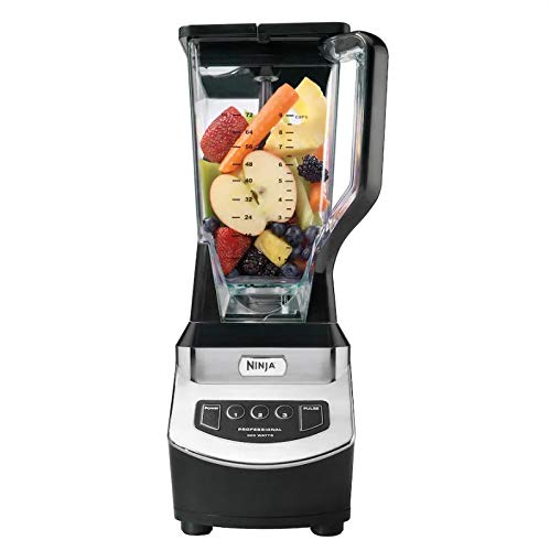Ninja 1000 Watts Blender NJ600, Silver/Black, 72 Oz (Renewed) (Ninja Blender)