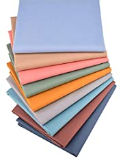 """Solid Fat Quarters Fabric Bundles, Precut Quilting Fabric for Sewing Crafting,18""""x22"""",(Solids)"""